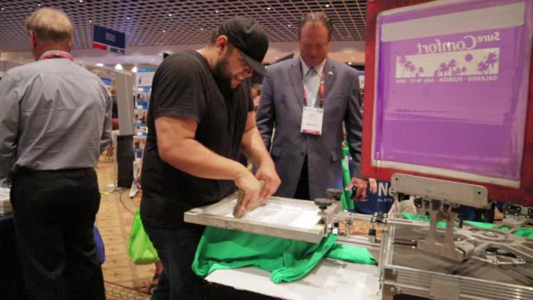 live printing at trade shows