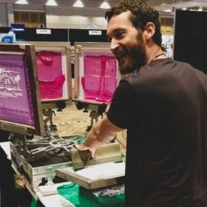 live screen printing for trade show activations