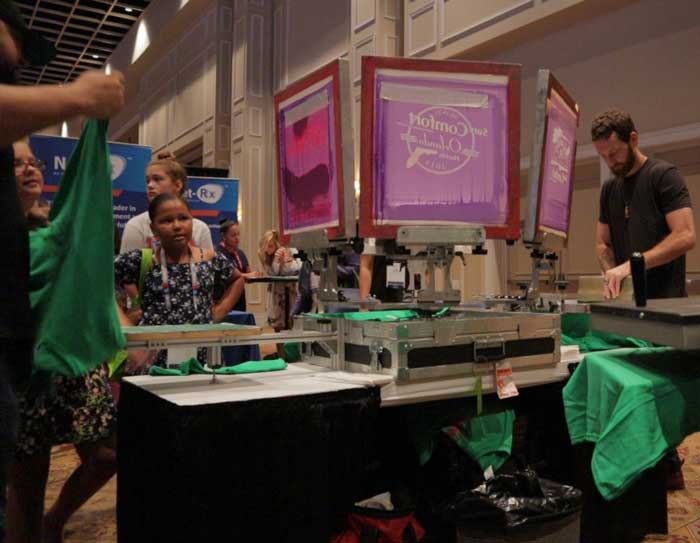 live screen printing for trade shows in las vegas