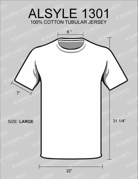 what is the best t shirt for printing alstyle-1301-dimensions