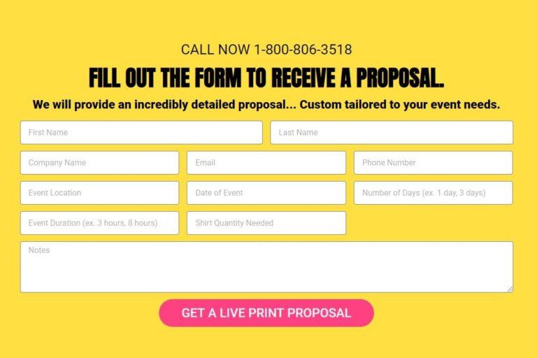 live printing proposal