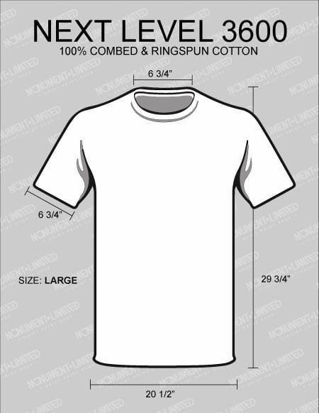 what is the best t shirt for printing next-level-3600-dimensions