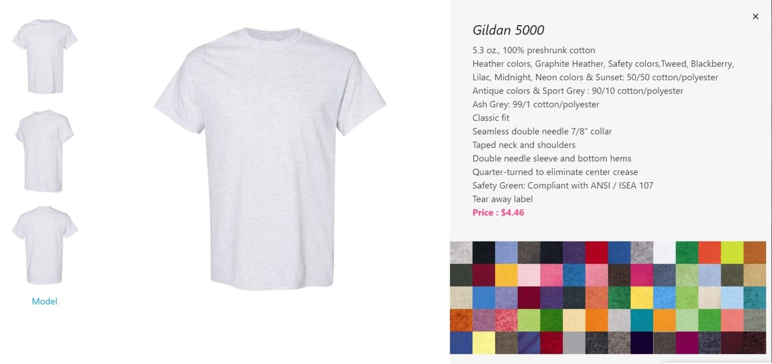 breaking down a t shirts specs